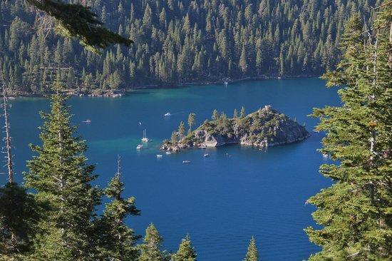 Lake Tahoe: Inspiration Point Vista overlooking Emerald Bay