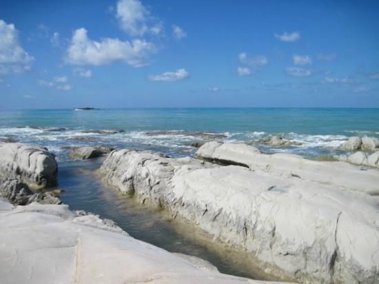 Riserva Naturale di Punta Bianca: Scogliera bianca di Punta Bianca
