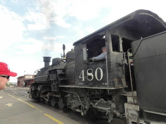 Caboose Motel: Train returns to Durango a few blocks from The Caboose