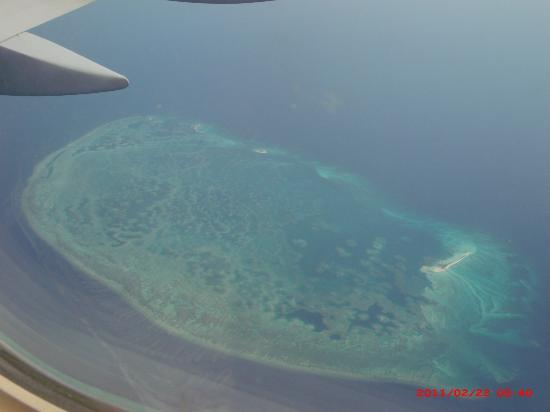 Sandos Playacar Beach Resort: Reef from Plane