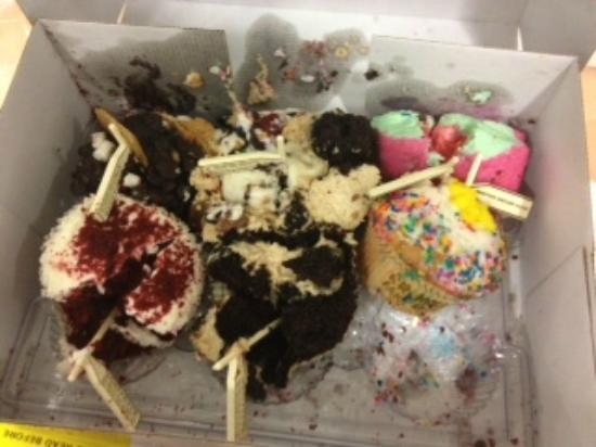 Smashed cupcakes from CRUMBS.
