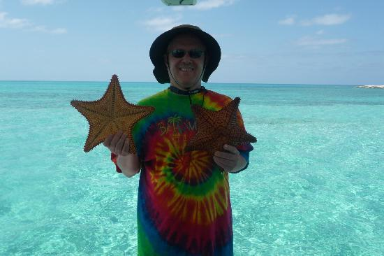 Great Stirrup Cay: On my excursion holding starfish, etc.