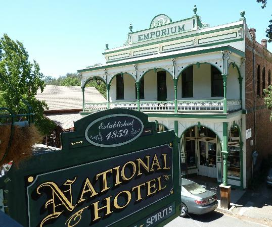 1859 Historic National Hotel: View from the poarch