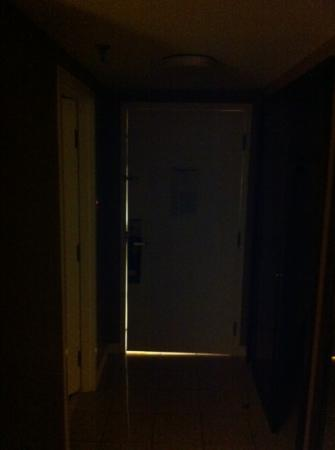 Hilton St. Louis Airport: lumière du couloir dans la chambre