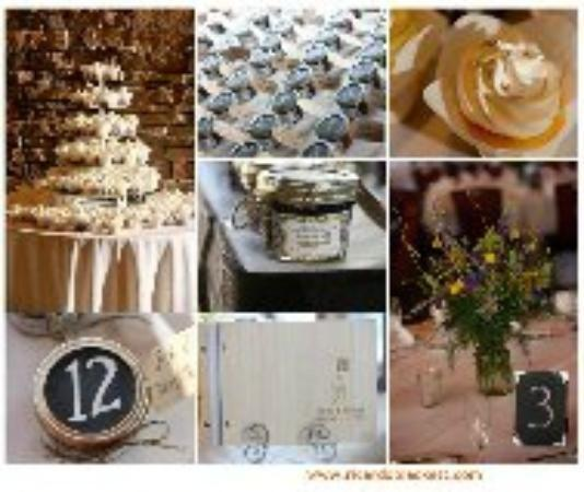 Bear Creek Mountain Resort: Wedding decorations set up by resort