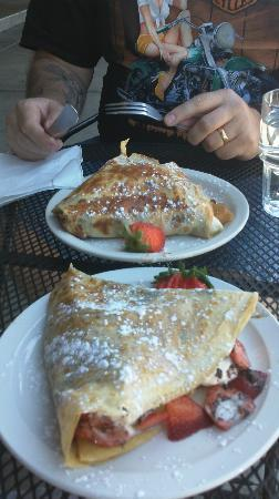 Amazing Crepes: The nutella & banana and the dark chocolate & strawberries.