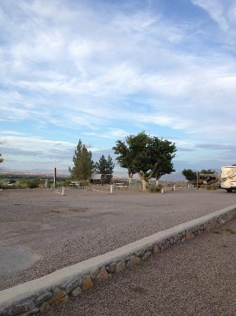 Las Cruces KOA: view of camp ground