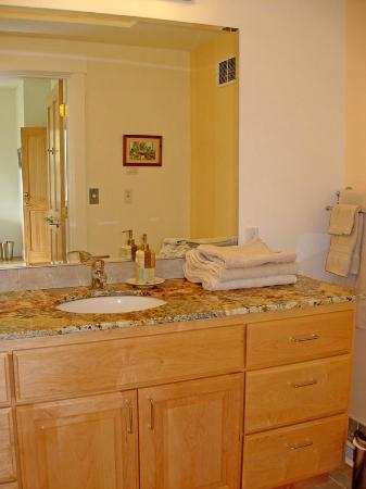 McKenzie Orchards Bed and Breakfast Inn: Bathroom of Blue River bedroom