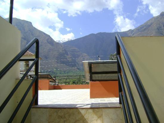 Yucay Plaza: Vista desde la terraza