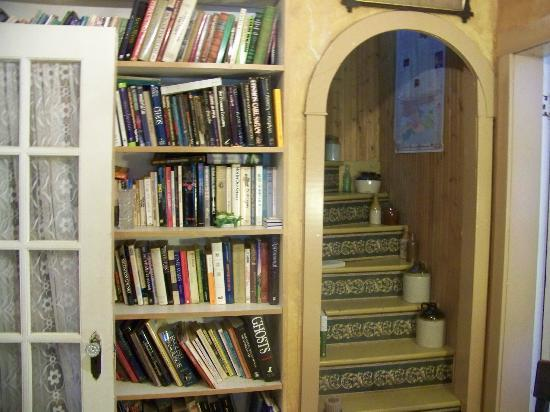 Chamber's Guest House Bed and Breakfast: library and staircase