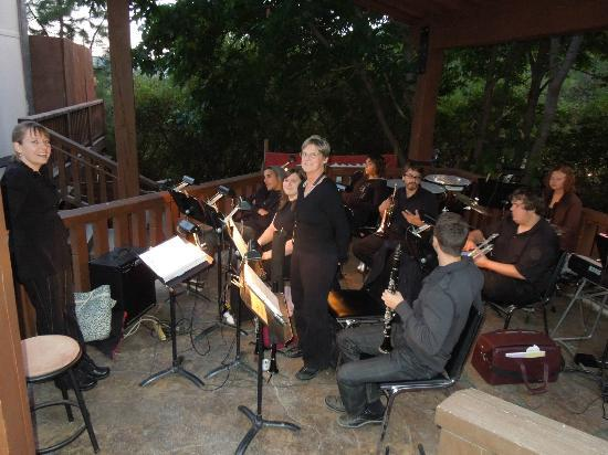 Leavenworth Summer Theater: The orchestra before the show.