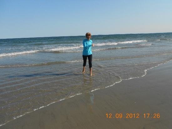 Normandie Oceanfront Motor Inn: walking on the beach