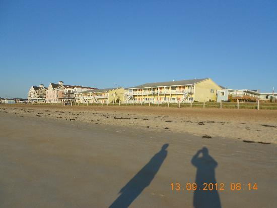 Normandie Oceanfront Motor Inn: beach view with other rental units