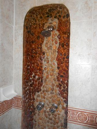 Hotel Delfin: shower