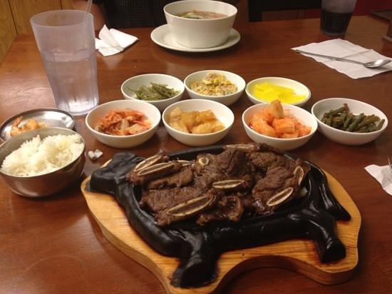 Seoul Bistro: galbi beef short rib dinner