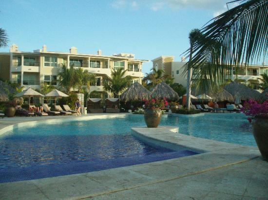 Paradisus Punta Cana Resort: View of the hotel from the pool