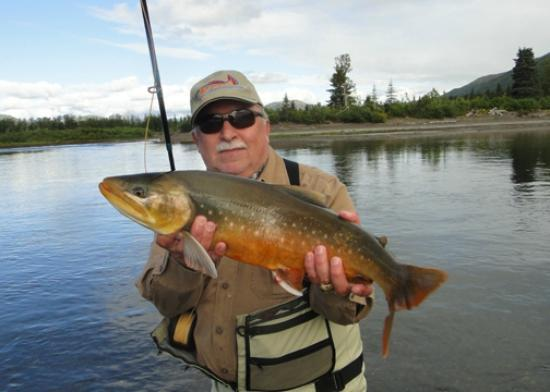 Alaska's Bearclaw Lodge: A Dolly Varden in spawining colors.