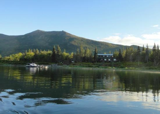 Alaska's Bearclaw Lodge: View of the Bear Claw Lodge from Lake Aleknagik.