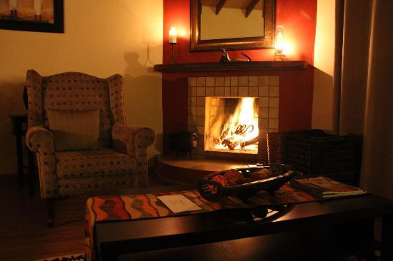 Petersfield Farm Cottages: the fireplace