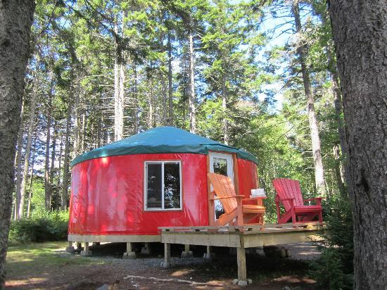 Fundy National Park: Yurt #3, the Red yurt