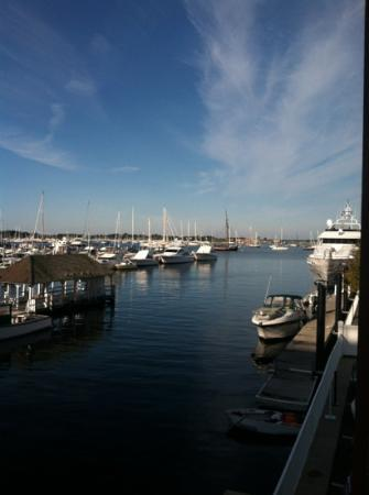view from the balcony at Harborside Inn