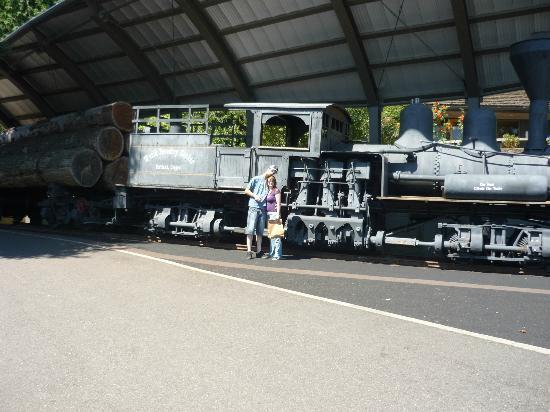 World Forestry Center: The locomotive outside the building. A story there!