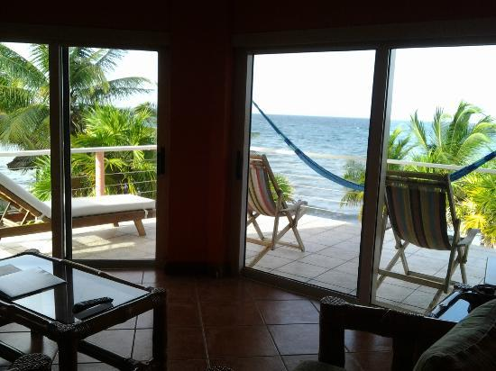 Laru Beya Resort & Villas: Looking from inside across Balcony to the ocean