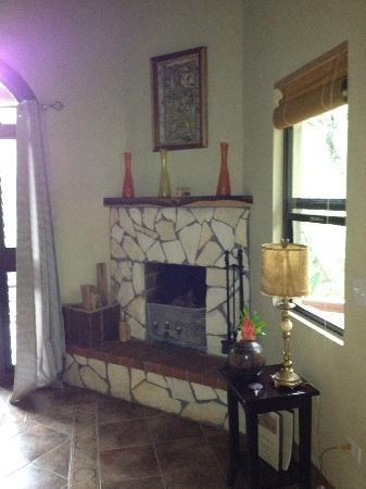 Mystic River Resort: Fireplace in our room!