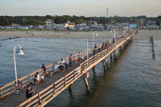 Sunset picture of ocean view fishing pier restaurant for Oceanic fishing pier
