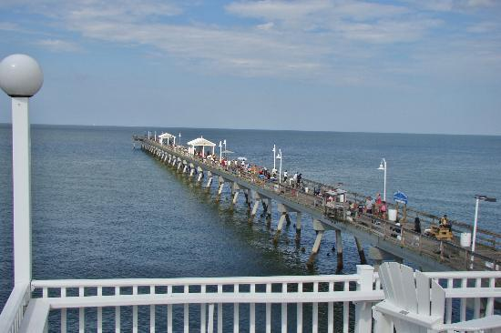 Fishing pier beyond the restaurant picture of ocean for Fishing piers in va