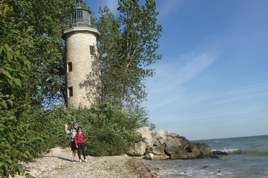 Explore Pelee: Lighthouse stop on the cycling tour