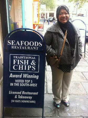 Seafoods Traditional Fish & Chips: Outside the Fish and Chips shop, Bath