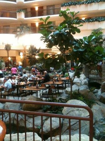 breakfast area picture of embassy suites by hilton. Black Bedroom Furniture Sets. Home Design Ideas