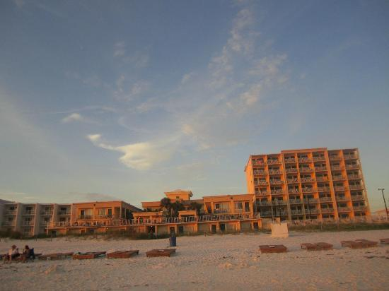 view of hotel from the beach picture of flamingo motel. Black Bedroom Furniture Sets. Home Design Ideas