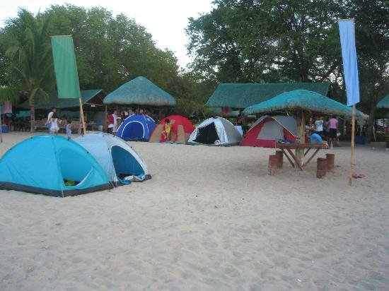 San Juan, Philippines: you see our tents....