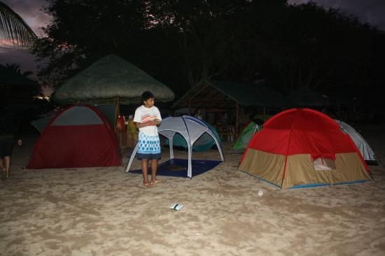 San Juan, Philippines: the tents...