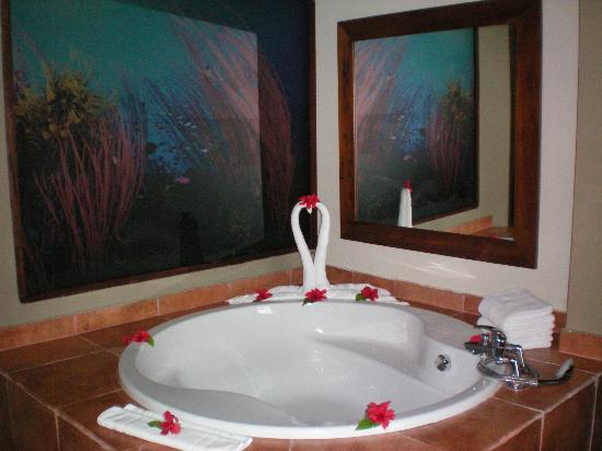 Catalonia Royal Bavaro: The large bathtub in our Deluxe Suite