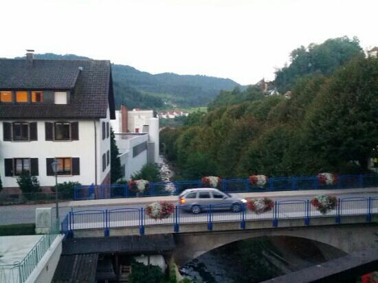 Hotel Hirsch: Zimmer 216 Ausblick