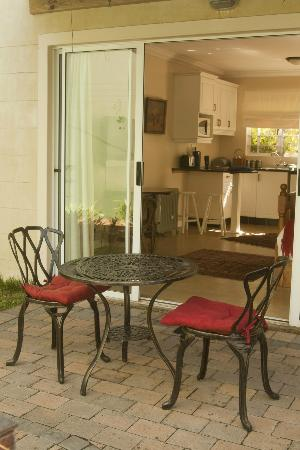 The Lazy Lizard: Each room has a private patio