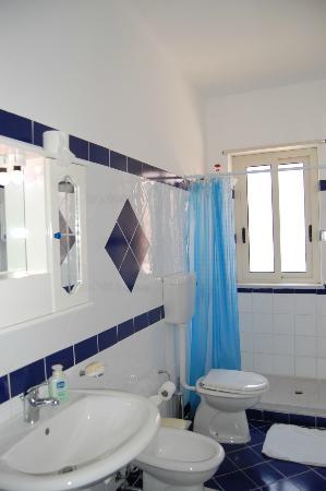 B&B La Mimosa: Il Bagno privato della Camera Blu