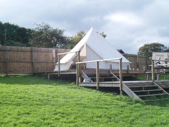 Little Upton Boutique Belltent: our tent