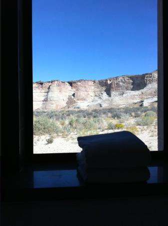 Amangiri: view from bathroom