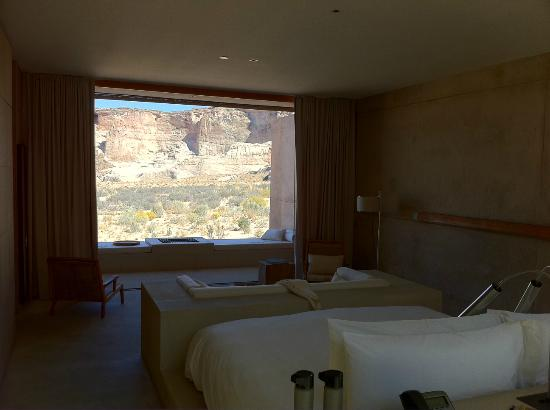 Amangiri: stunning view from Mesa suite