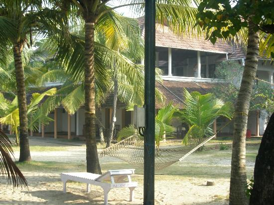 Alleppey Beach Resorts : Luvly, cozy, cool surroundings with the cottage at background