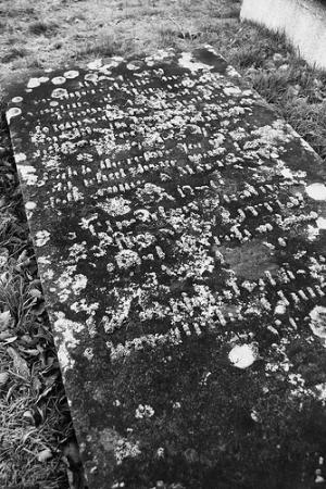 Fermanagh Self Catering: A frosty grave stone in the graveyard close by