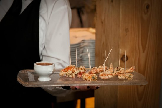 Litton, UK: DELICIOUS CANAPES