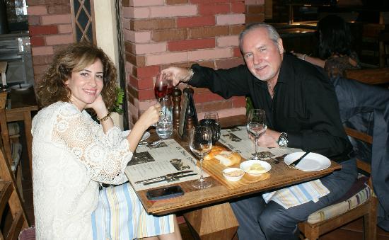 Viviane & Hugh at the Wharf 18 Sep 2012