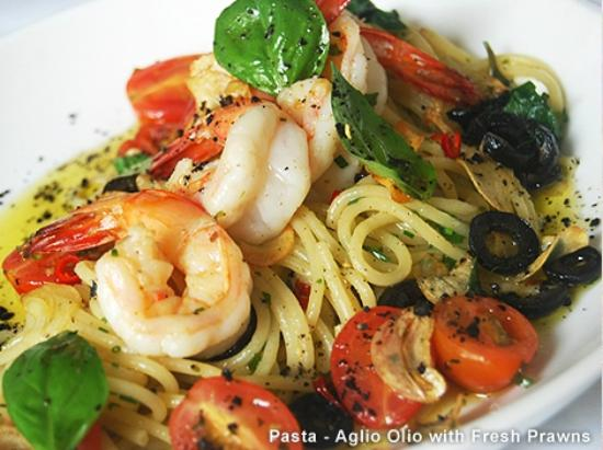 55 Cafe and Restaurant: Pasta with fresh shrimps