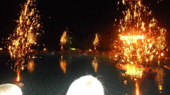Kaya Belek Hotel: Fireworks at beach party