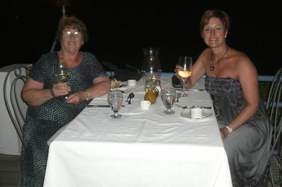 The Beach House Restaurant & Bar: Mum and I with a sea view table.